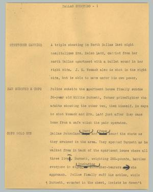 Primary view of object titled '[News Script: Dallas shooting]'.
