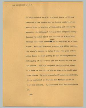 Primary view of object titled '[News Script: Man sentenced]'.