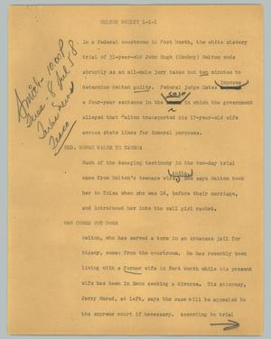 Primary view of object titled '[News Script: Melton Guilty]'.