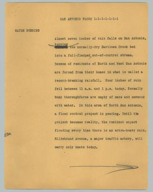Primary view of object titled '[News Script: San Antonio flood]'.