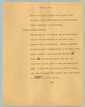 Primary view of object titled '[News Script: Skouras]'.