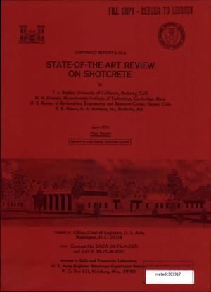 Primary view of object titled 'State-of-the-Art Review on Shotcrete Final Report'.