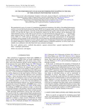 Primary view of On The Performance of Quasar Reverberation Mapping in the Era of Time-Domain Photometric Surveys