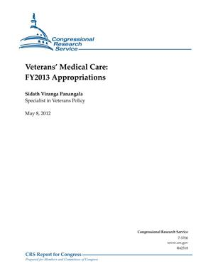 Veterans' Medical Care: FY2013 Appropriations