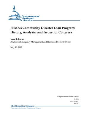 FEMA's Community Disaster Loan Program: History, Analysis, and Issues for Congress