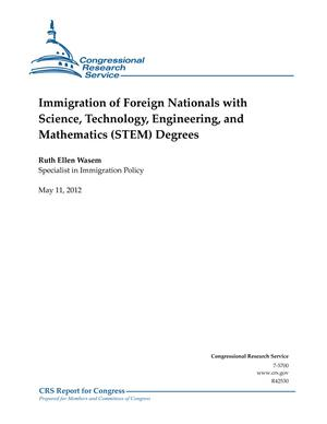 Immigration of Foreign Nationals with Science, Technology, Engineering, and Mathematics (STEM) Degrees