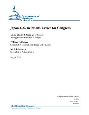 Japan-U.S. Relations: Issues for Congress