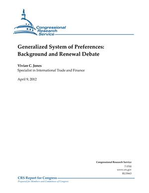 Generalized System of Preferences: Background and Renewal Debate