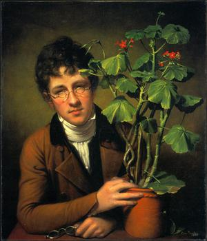 Primary view of Rubens Peale with a Geranium