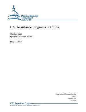 U.S. Assistance Programs in China