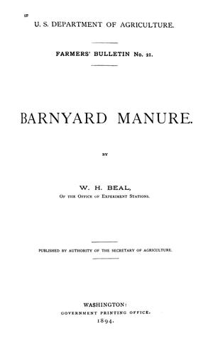Primary view of object titled 'Barnyard Manure'.