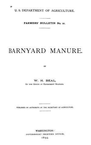Primary view of Barnyard Manure