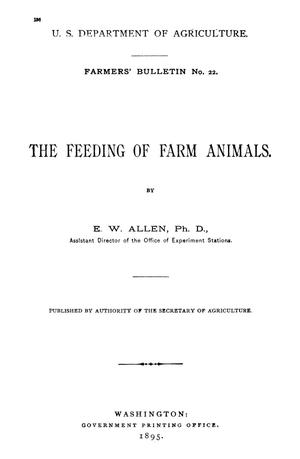 Primary view of object titled 'The Feeding of Farm Animals'.