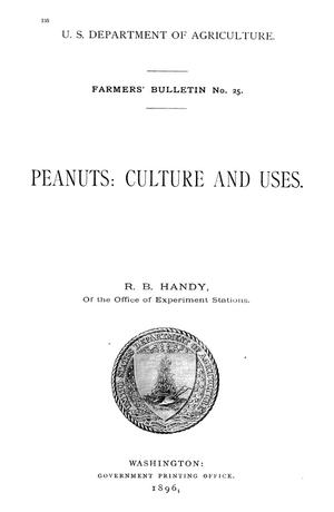 Primary view of object titled 'Peanuts: Culture and Uses'.