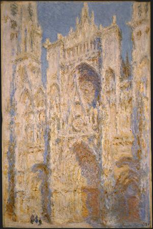 Primary view of object titled 'Rouen Cathedral, West Facade, Sunlight'.