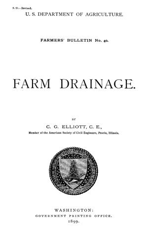 Primary view of object titled 'Farm Drainage'.