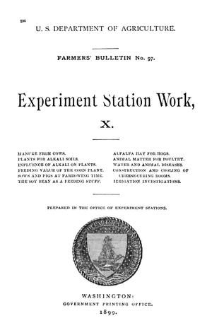 Primary view of object titled 'Experiment Station Work, [Volume] 10'.