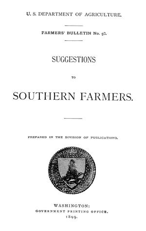 Primary view of object titled 'Suggestions to Southern Farmers'.