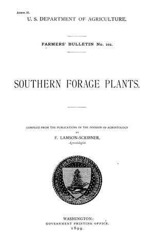 Primary view of object titled 'Southern Forage Plants'.