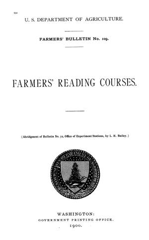 Primary view of object titled 'Farmers' Reading Courses'.