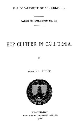 Primary view of Hop Culture in California