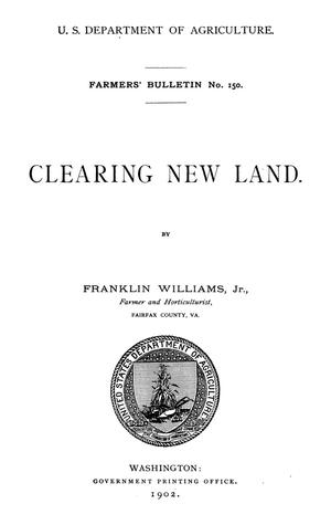Primary view of object titled 'Clearing New Land'.