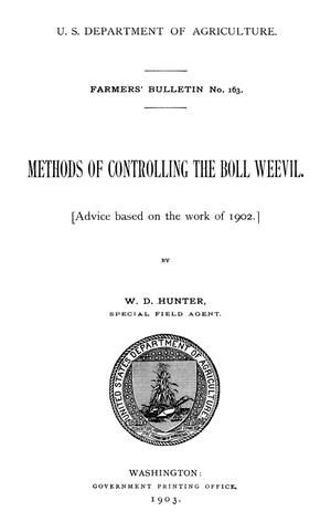 Primary view of object titled 'Methods of Controlling the Boll Weevil'.