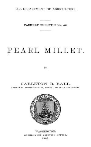 Primary view of object titled 'Pearl Millet'.