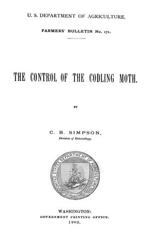 Primary view of object titled 'The Control of the Codling Moth'.