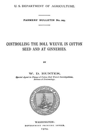 Primary view of object titled 'Controlling the Boll Weevil in Cotton Seed and at Ginneries'.