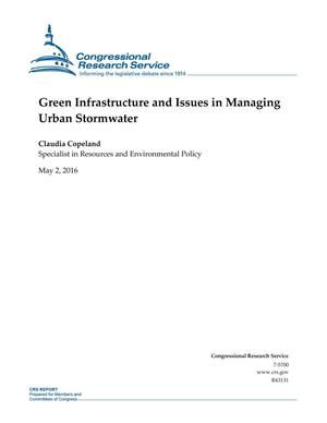 Primary view of object titled 'Green Infrastructure and Issues in Managing Urban Stormwater'.