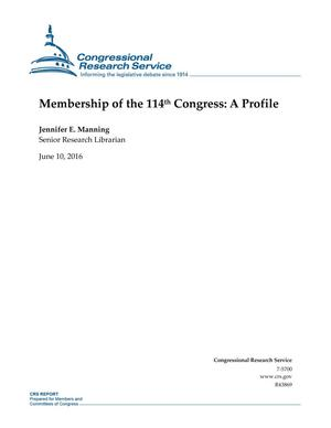 Primary view of object titled 'Membership of the 114th Congress: A Profile'.