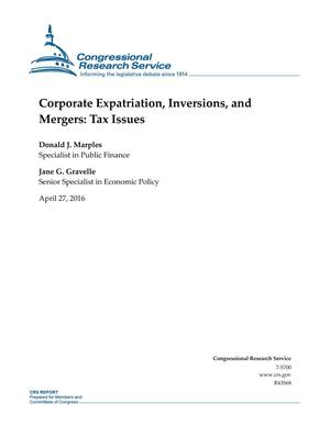 Primary view of object titled 'Corporate Expatriation, Inversions, and Mergers: Tax Issues'.