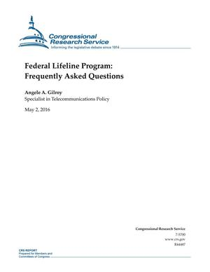 Primary view of object titled 'Federal Lifeline Program: Frequently Asked Questions'.