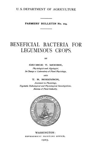 Primary view of object titled 'Beneficial Bacteria for Leguminous Crops'.