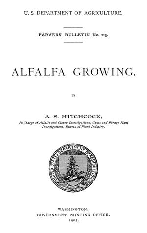 Primary view of object titled 'Alfalfa Growing'.