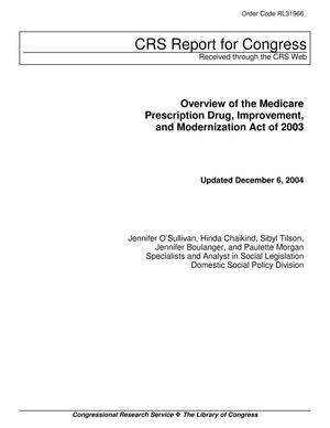 Primary view of object titled 'Overview of the Medicare Prescription Drug, Improvement, and Modernization Act of 2003'.