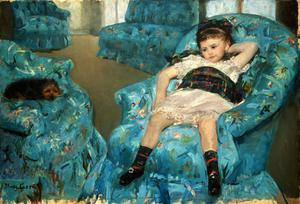 Primary view of Little Girl in a Blue Armchair