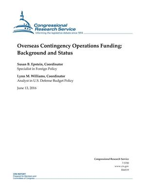 Primary view of object titled 'Overseas Contingency Operations Funding: Background and Status'.