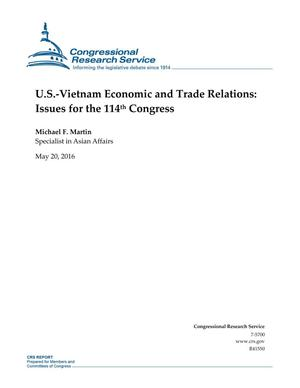 Primary view of object titled 'U.S.-Vietnam Economic and Trade Relations: Issues for the 114th Congress'.