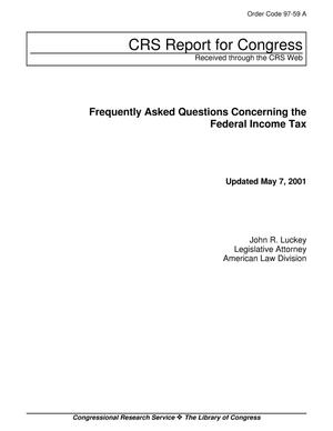 Primary view of object titled 'Frequently Asked Questions Concerning the Federal Income Tax'.