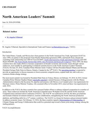 Primary view of object titled 'North American Leaders' Summit'.