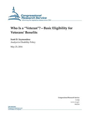 "Primary view of object titled 'Who Is a ""Veteran""?--Basic Eligibility for Veterans' Benefits'."