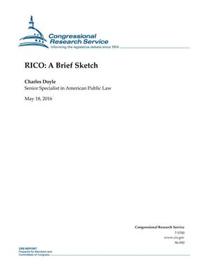 Primary view of object titled 'RICO: A Brief Sketch'.