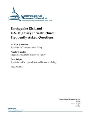 Primary view of object titled 'Earthquake Risk and U.S. Highway Infrastructure: Frequently Asked Questions'.