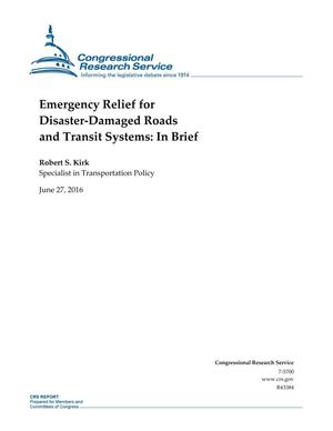 Primary view of object titled 'Emergency Relief for Disaster-Damaged Roads and Transit Systems: In Brief'.