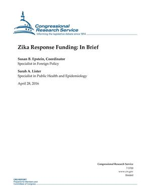 Primary view of object titled 'Zika Response Funding: In Brief'.