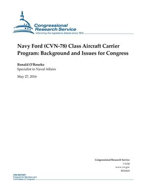 Primary view of object titled 'Navy Ford (CVN-78) Class Aircraft Carrier Program: Background and Issues for Congress'.