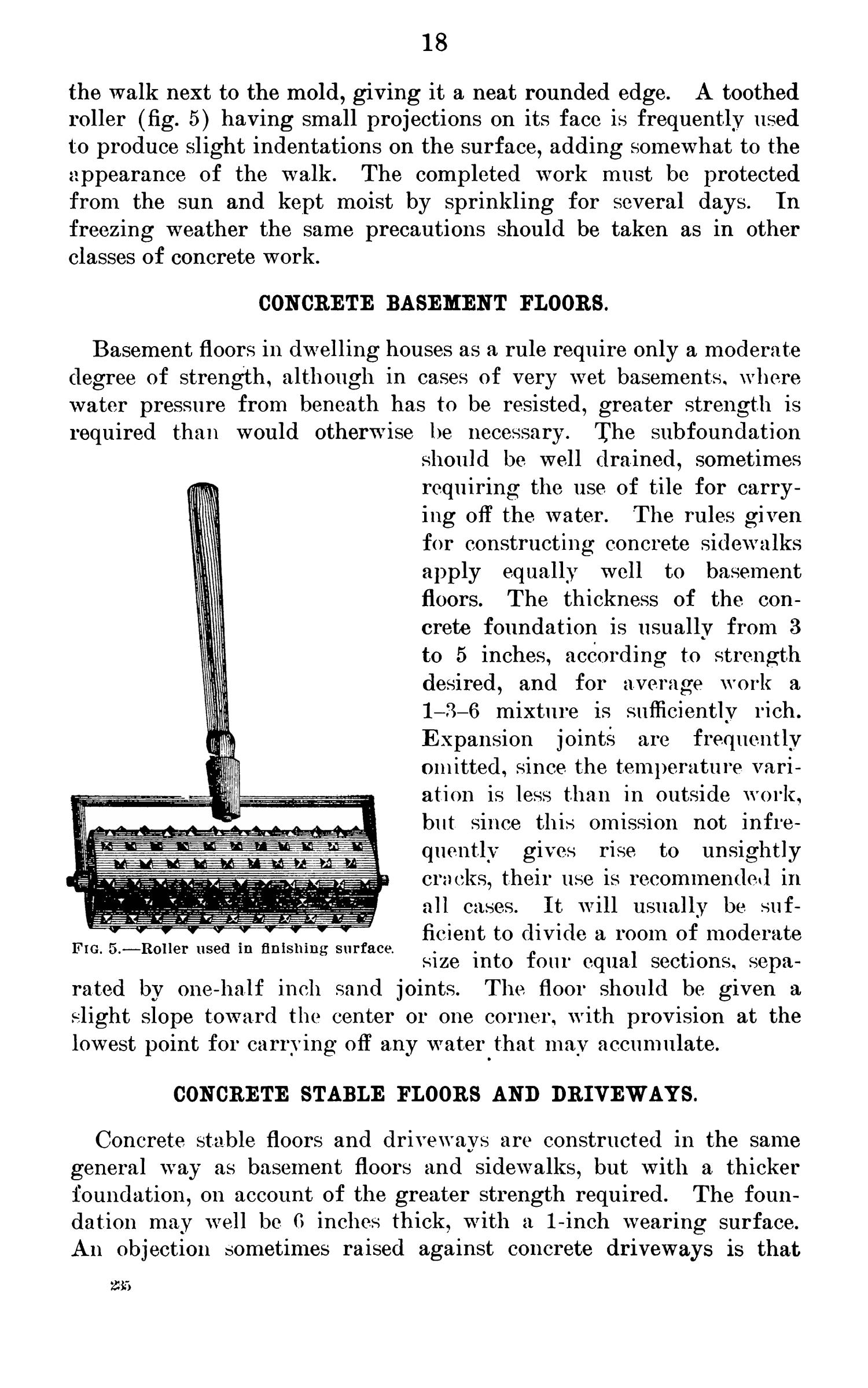 Cement Mortar and Concrete: Preparation and Use for Farm