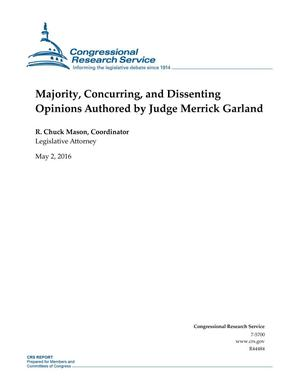 Primary view of object titled 'Majority, Concurring, and Dissenting Opinions Authored by Judge Merrick Garland'.